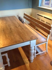 Custom-made table and bench 3