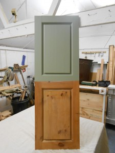 .Refurbished cupboard doors