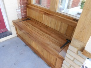Custom made and fitted monks bench 2