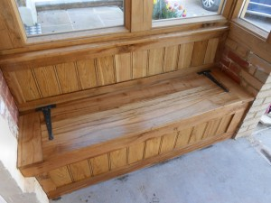 Custom made and fitted monks bench 3