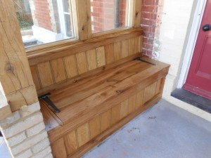 Custom made and fitted monks bench