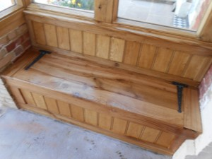 Custom made and fitted monks bench 4